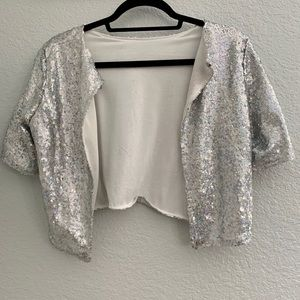 Tops - glitter cover up /festival fashion